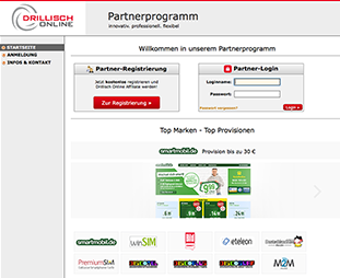 Screenshot - Partnerprogramm-Webseite
