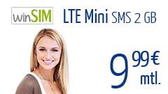 LTE Mini SMS 2 GB