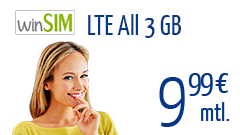 winSIM LTE All 3 GB
