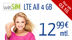 winSIM LTE All 4 GB