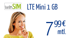 winSIM LTE Mini 1 GB