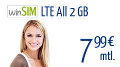winSIM LTE All 2 GB 24 Monate