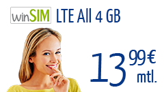 winSIM LTE All 4 GB 24 Monate