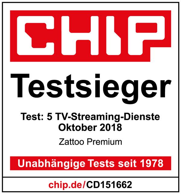 CHIP - Testsieger - Zattoo Premium